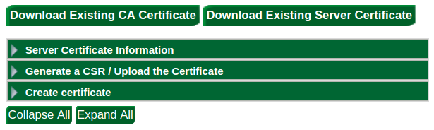 The Certificates tab